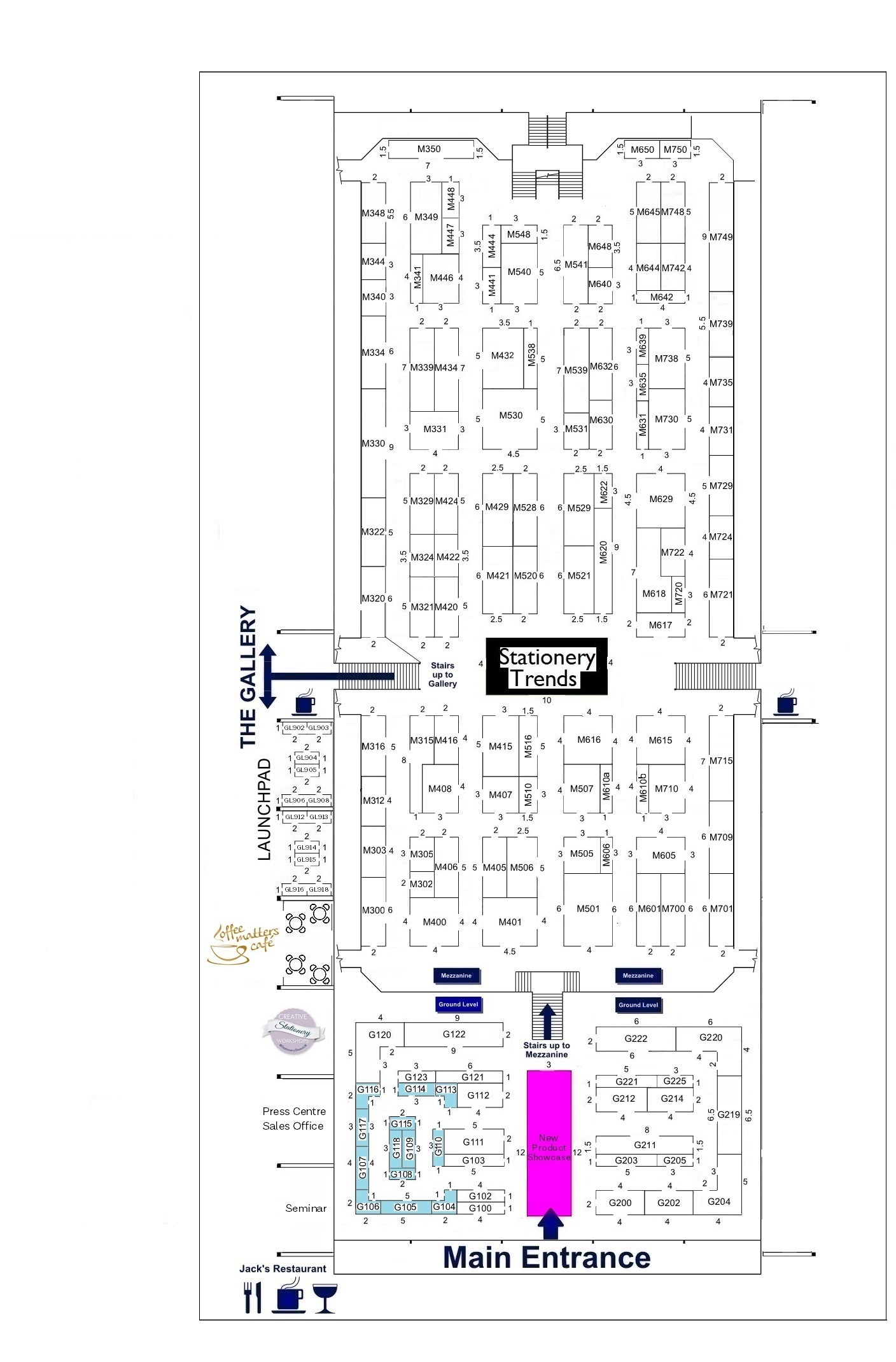 Stationery Show 2019 - Floorplan